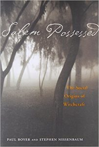 Cover of Salem Possessed: The Social Origins of Witchcraft (1976). Source: Amazon